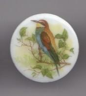 Pin's En Porcelaine Thoscas Limoges Oiseaux Réf 7642JL - Animals