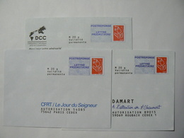 Prêt à Poster Réponse, POSTREPONSE  20g, Lettre Prioritaire, Lamouche, 3 Enveloppes Neuves, TB. - Entiers Postaux