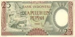 INDONESIA P.  57 25 R 1958 UNC - Indonésie