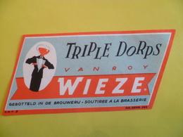 étiquette Ancienne Brasserie WIEZE VAN ROY  Triple Dorps - Bier