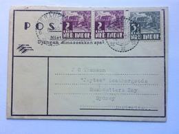 NETHERLANDS NEW GUINEA 1945 Letter Sheet Merauke Netherlands New Guinea To Sydney Australia - Netherlands New Guinea