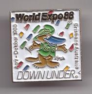 Pin's World Expo 88 Brisban Australia  Downunder Canard Réf 7275JL - Pin's