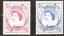 Gibraltar 2001 Yvertn° 977-978 *** MNH  Cote 13,00 Euro Série Courante Reine Elizabeth II - Gibraltar