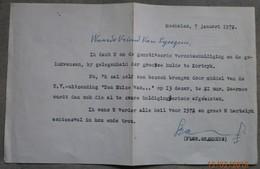 Flor Grammens 1972: Gehandtekend Briefje - Autographes