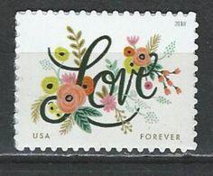 USA. Scott # 5255 MNH. Love Flowers  2018 - Unused Stamps