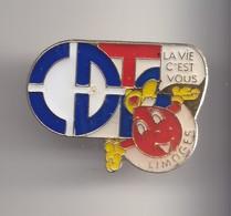 Pin's CDT Limoges Don Du Sang  Réf 7853JL - Villes