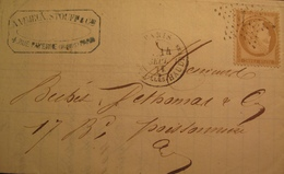 R1712/104 - ✉️ (LAC) - CERES N°59 - ETOILE N°7 De PARIS - CàD De PARIS RUE DES VIEILLES HAUDRIETTES Du 14 SEPT. 1871 - 1871-1875 Ceres