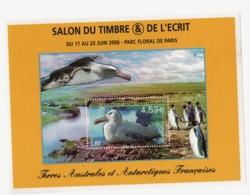VP2L9 TAAF FSAT Antarctique Antarctic Neufs ** MNH  Bloc Faune Oiseaux Salon Du Timbre 2006 N 15 - Blocs-feuillets