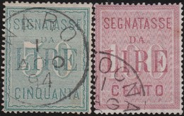 Italy .  Yvert    .       Taxe  20/21     .       O        .      Cancelled   .   /    .   Oblitéré - 1900-44 Vittorio Emanuele III
