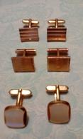 3 Paires De Boutons De Manchette - Bijoux & Horlogerie