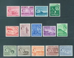 MAURITIUS - MLH/*. - 1954 - Yv 241-254 -  Lot 18411 - 2nd CHOICE MOST WITH SMALL BROWN TRACE SEE SCAN - 3p NOT PRESENT - Maurice (...-1967)