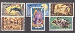 Nigeria  :  Yv  185-90  **  Animaux - Nigeria (1961-...)