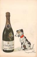 Illustration Benjamin Rabier Illustrateur - Champagne Delbeck Reims Et Chien - Rabier, B.