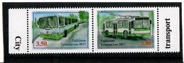 Tajikistan.2017 City Transport. Pair Of 2v: 3.00, 3.50 Michel # 775-76A - Tadjikistan