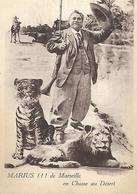 MARIUS MARSEILLE La Chasse Les Lions Chapeau Fusil Cheval - Lions