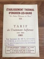 Dépliant Etablissement Thermal D'Enghien Les Bains - Dépliants Touristiques