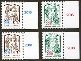 Mariannes Ciappa Et Kawena Surchargées 2013/2108 Numéros 5234 Et 5235 Vendues Lors De Paris-Philex 2018 - 2013-... Marianne De Ciappa-Kawena