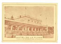 LUXEMBOURG -- WORMELANGE - HOTEL DE LA PLAGE (carte Double Et Menu Saison 1954) - Cartes Postales