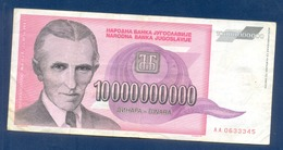 10.000.000.000 Dinara Yugoslavia 1993 - Yougoslavie