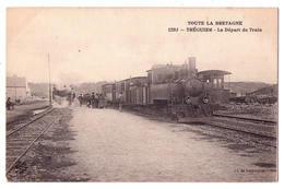 """3529 - Tréguier ( 22 ) - """" Toute La Bretagne """" - Le Départ Du Train - 1293 - Cl. De Lespinasse - - Tréguier"""