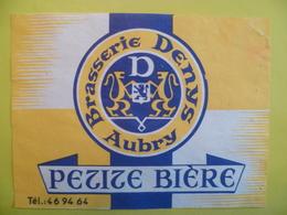 étiquette Ancienne Brasserie  DENYS A AUBRY  Petite Bière - Bière