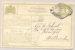 Nederlands Indië - 1930 - 1 Cent Cijfer, Verhuiskaart G4a Van Bandoeng (seint Via Radio) Naar Weltevreden - Indes Néerlandaises