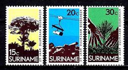 SURINAM 568/570** 25ème Anniversaire De L'administration Des Forêts - Surinam
