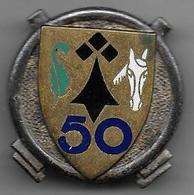 50e Régiment Artillerie - Insigne émaillé Drago 450 - Armée De Terre