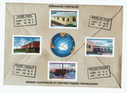 VP3L9 TAAF FSAT Antarctique Antarctic Neufs ** MNH  Bloc Gérances Postales 2004 N 15 - Blocs-feuillets