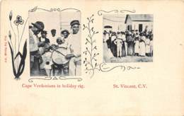 Cap Vert / 12 - Cape Verdonians In Holiday Rig. - Cape Verde