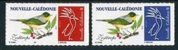 """Timbres** De 2018 Autocol. """"Oiseaux : ZOSTEROPS"""" - Nouvelle-Calédonie"""