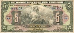 5 SUCRES 1940 - Equateur