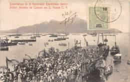 Cap Vert / 25 - S. Vicente - Desembarque Do Governador Senhor Arthur Marinha De Campos - Belle Oblitération - Cap Vert