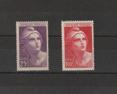 FRANCE 1945 N° 731** Et N° 733** - France
