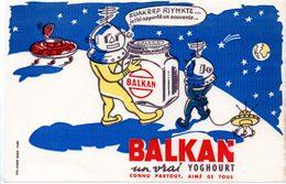 Buvard Yaourts Balkan. Balkan Un Vrai Yoghourt. - Produits Laitiers