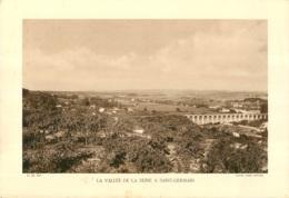GRAVURE  SAINT GERMAIN LA VALLEE DE LA SEINE CLICHE ANDRE BERNARD   FORMAT  29 X 20 CM - Estampes & Gravures