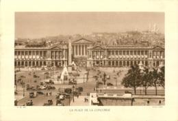 GRAVURE  PARIS LA PLACE DE LA CONCORDE CLICHE LADER  FORMAT  29 X 20 CM - Estampes & Gravures