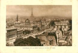 GRAVURE PANORAMA DE LA SEINE DANS LE CENTRE DE PARIS FORMAT  29 X 20 CM - Estampes & Gravures