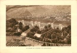 GRAVURE PARIS LE CHAMP DE COURSES DE LONGCHAMP CLICHE COMPAGNIE AERIENNE FRANCAISE  FORMAT  29 X 20 CM - Estampes & Gravures