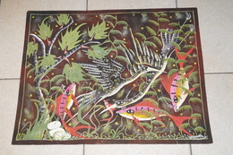 Superbe Dessin Aquarelle , Peinture ART AFRICAIN Originale,signé Cabouihia S. Pour Kabuya Cel. ?.63,5 Cm. / 51,5 Cm. - Huiles