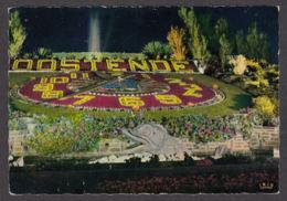 79923/ OOSTENDE, Het Bloemenuurwerk Verlicht, L'Horloge Fleurie - Oostende