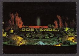 79924/ OOSTENDE, Het Bloemenuurwerk Bij Nacht, L'Horloge Fleurie - Oostende