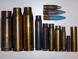 Lot De Douilles Et Obus Divers (20, 30, 37mm, Etc) - WW2 Et Postérieurs - Neutralisés - Militaria