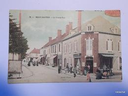 NEUVY SAUTOUR-La Grande Rue-Carte Couleur - Neuvy Sautour