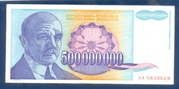 500000000 Dinara Yugoslavia 1993 - Jugoslavia