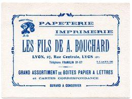 """Buvard Papeterie Imprimerie """"Les Fils De A. Bouchard"""", Rue Centrale à Lyon. - Papeterie"""
