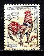 FRANCE 1331°  0,25f Outremer, Carmin Et Brun Coq De Decaris  (10% De La Cote + 0,15€) - 1962-65 Cock Of Decaris
