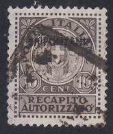 Tripolitania - Recapito Autorizzato: 10 C. Bruno Rossastro - 1931 (usato) - Tripolitania