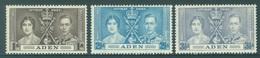 ADEN - MNH/**. - 1937 - CORONATION - Yv 13-15 -  Lot 18415 - Aden (1854-1963)