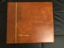 ALBUM LUXE SAFE - CONTENANCE 240 CARTES POSTALES ANCIENNES - PAGES NOIRES - EXCELLENT ETAT - Matériel